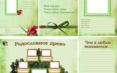 Портфолио для девочки школьницы «Летний день» (49 листов)