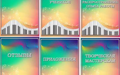Готовые шаблоны портфолио музыкального руководителя (учителя музыки) «Симфония»
